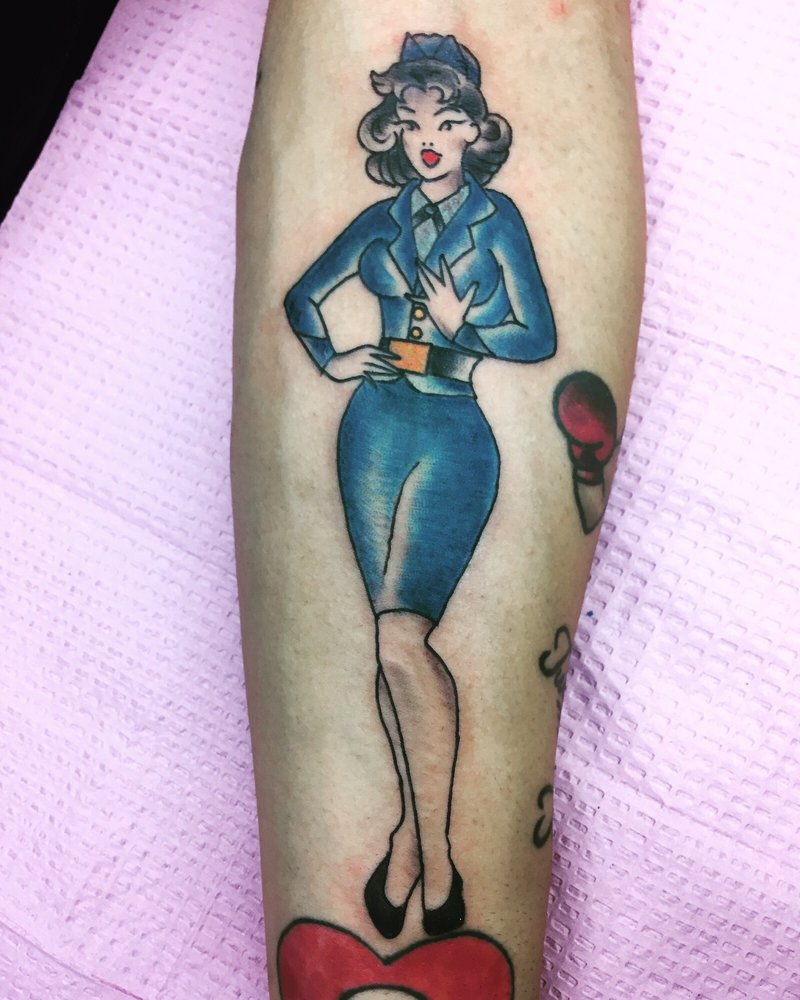 a beautiful air force pinup girl to commemorate my time