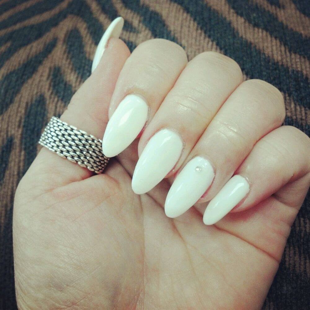 White Stiletto Nails With Gel Yelp