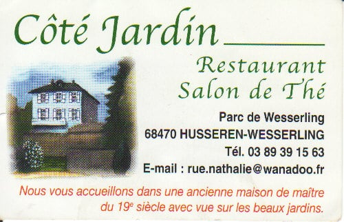Restaurant c t jardin restaurants 24 a rue parc for Jardin wesserling