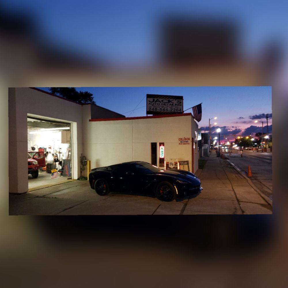 Jack's Auto Detailing & Collision: 1460 E 9 Mile Rd, Hazel Park, MI