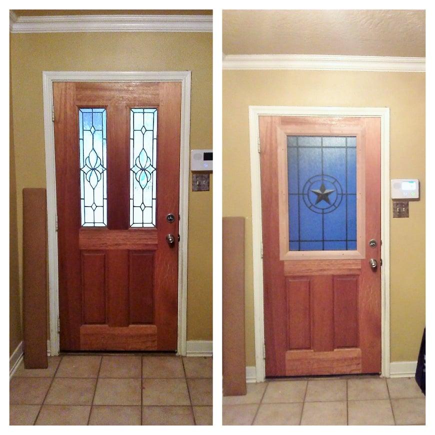 Dont Replace Your Door Remodel It Elegant Star Door Glass Insert