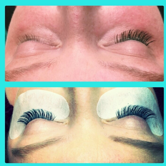 Top Left Bare Eye Top Right The Traditional Eyelash Extension And