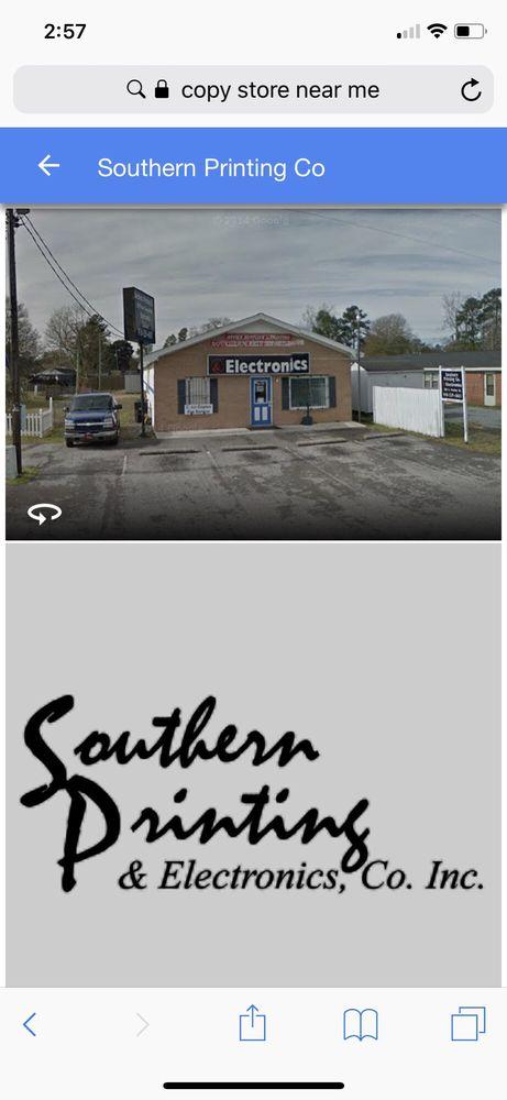 Southern Printing & Electronics: 203 S Dudley St, Burgaw, NC