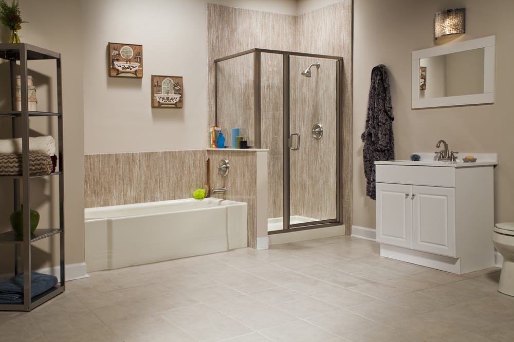 Bathroom Remodel Yelp think converting your bathtub into a shower requires major