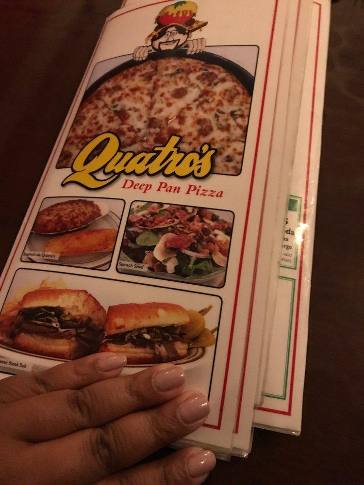 Quatro's Deep Pan Pizza: 218 W Freeman St, Carbondale, IL
