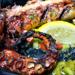 Photo Of Santorini S Greek Cuisine Deland Fl United States Grilled Octopus