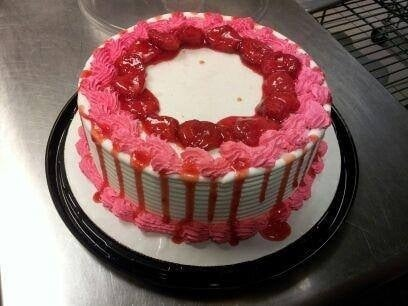 Strawberry Cheesequake Blizzard Cake