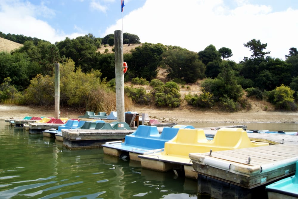 Peddle boats yelp for Lake chabot fishing