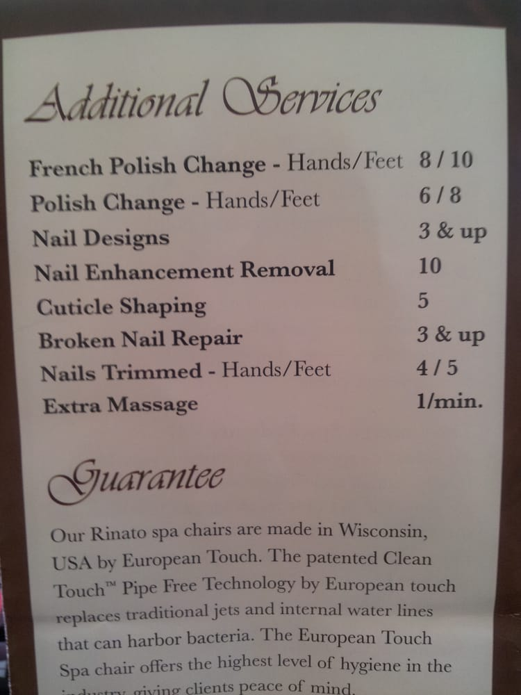 Price list for The Nail Lounge of La Jolla - Yelp