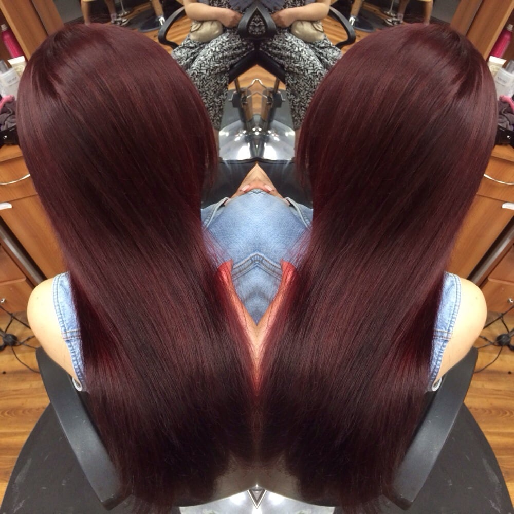 Merlot hair color - Photo Of Hair Secrets And More Pleasant Hill Ca United States Merlot