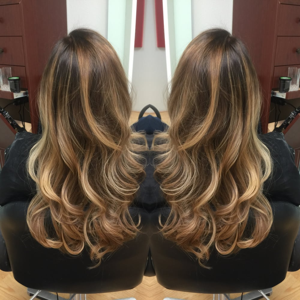 Light Ash Dark Brown Base With Gold Beige Honey Blonde Highlights Yelp