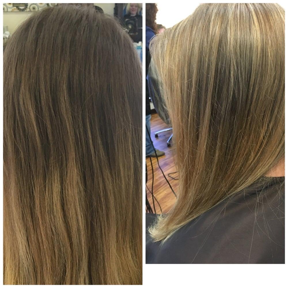 Hair by our stylist taryn barelli yelp - Expressions hair salon ...