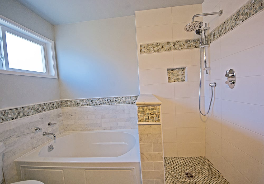 Bathroom remodel in daly city ca marble and ceramic tile for Bathroom remodel 94112
