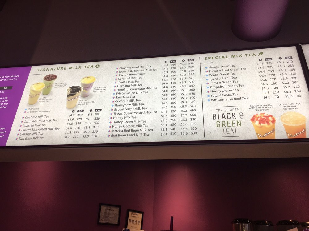 Updated Menu with Calorie Count! - Yelp