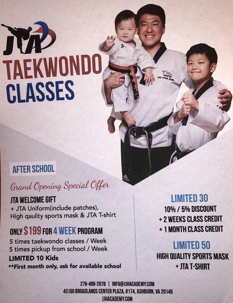 JTA Jeong Jaehyun Taekwondo Academy: 43150 Broadlands Center Plz, Ashburn, VA