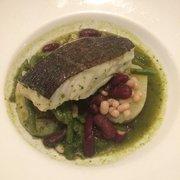 Victor Café - Marseille, France. Filet de poisson et pistou revisité