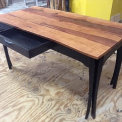 Photo Of ClearLake Furniture   Ludlow, VT, United States. Pear Slab Desk  With