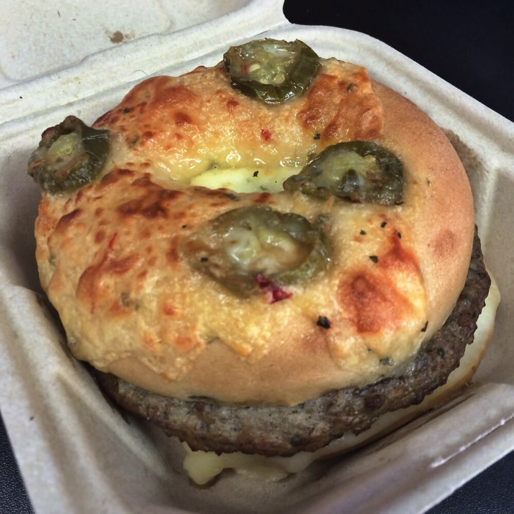 The jalapeño cheese bagel sausage and egg sandwich! - Yelp