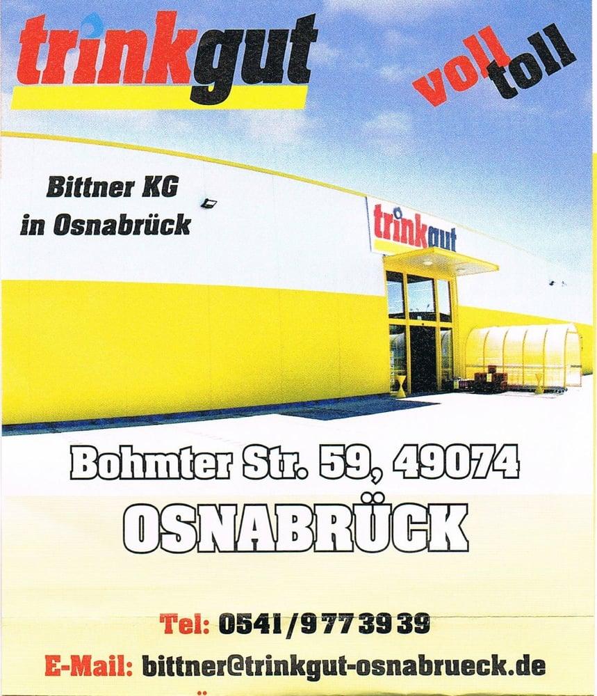 trinkgut Bittner - Getränkemarkt - Bohmter Str. 59, Osnabrück ...