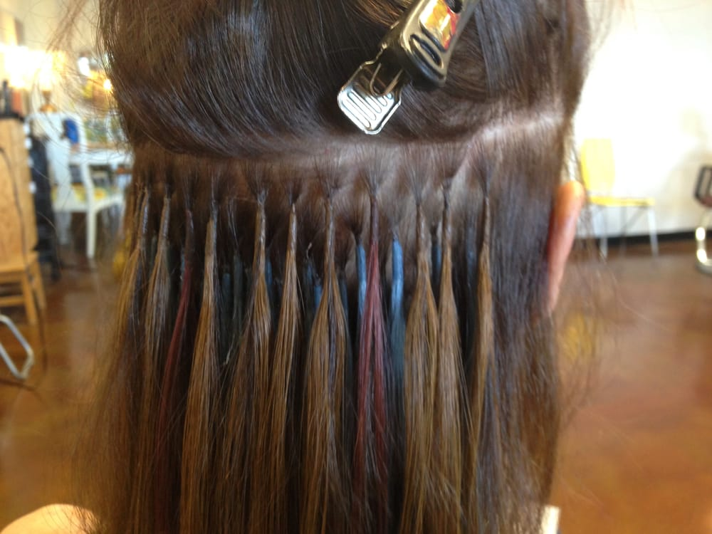 Keratin Fusion Hair Extensions Under The Hood Yelp