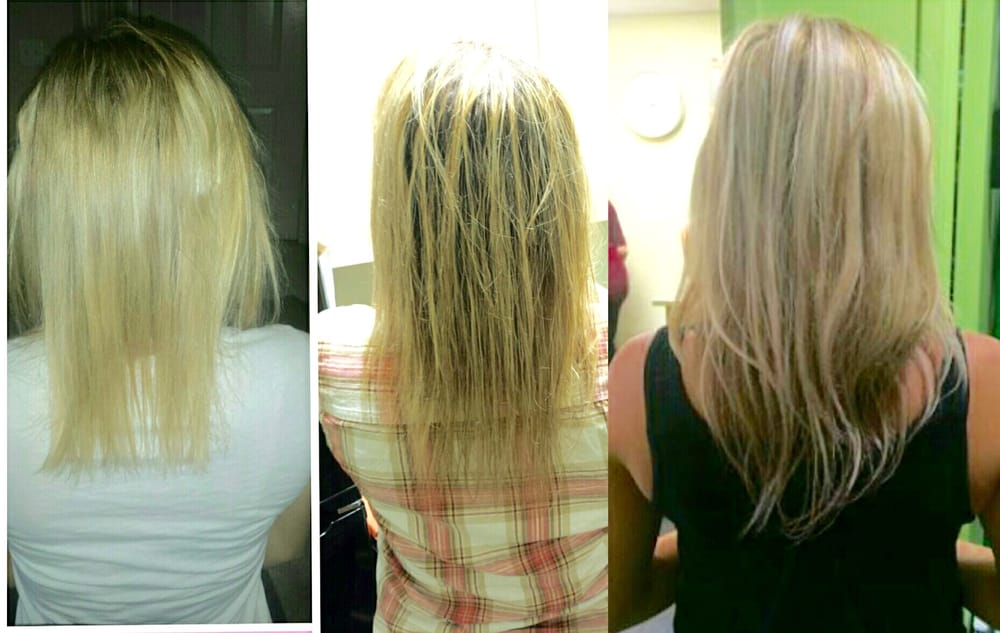 Hair Growth Before And After Wearing Two Sets Of Our Damage Free