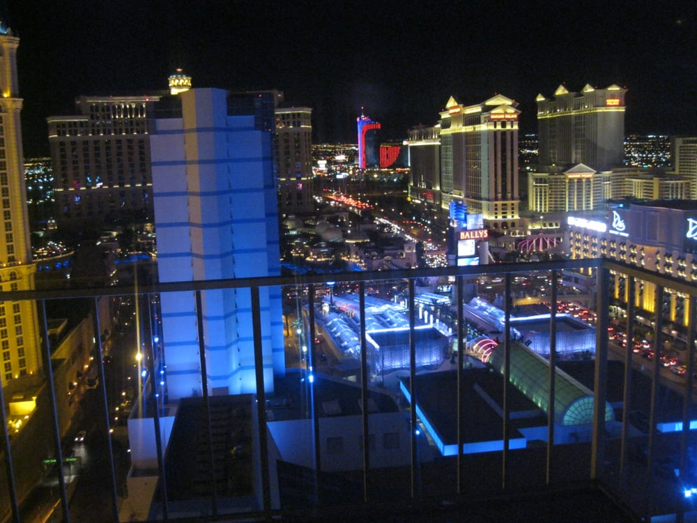 Night View From Bally S Penthouse All White Marble Floor