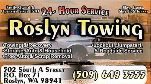 Roslyn Towing: 502 S A St, Roslyn, WA