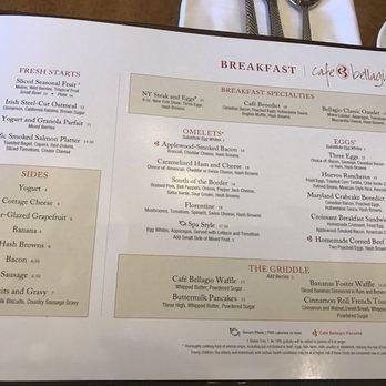 Cafe Bellagio Menu Prices