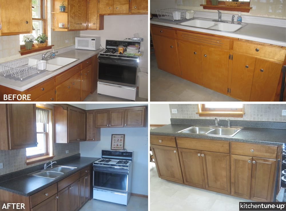 The 1950s are over refacing with birch cabinets with a for Birch kitchen cabinets review