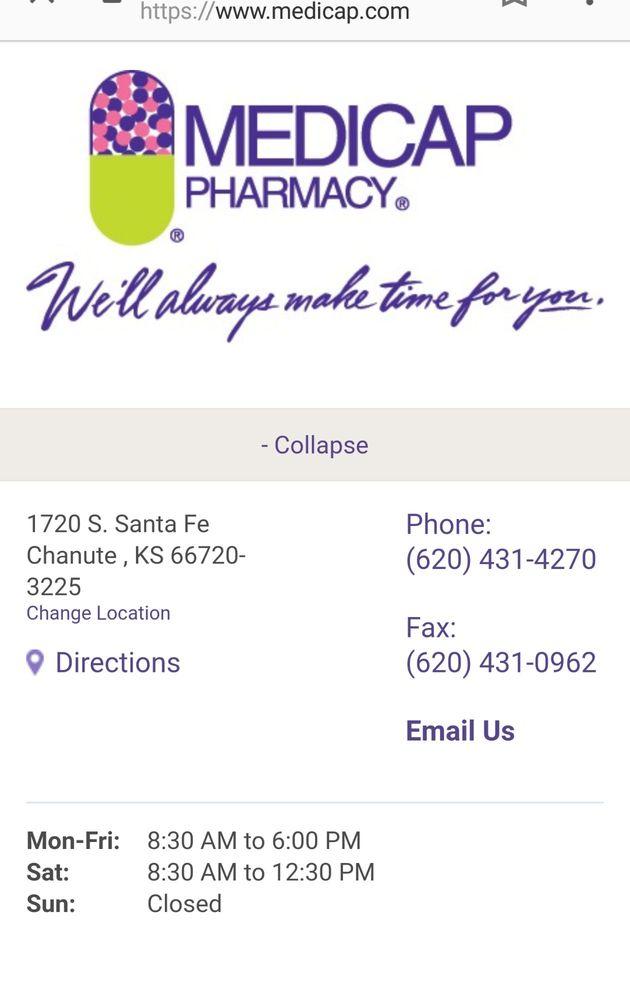 Medicap Pharmacy: 1720 S Santa Fe Ave, Chanute, KS