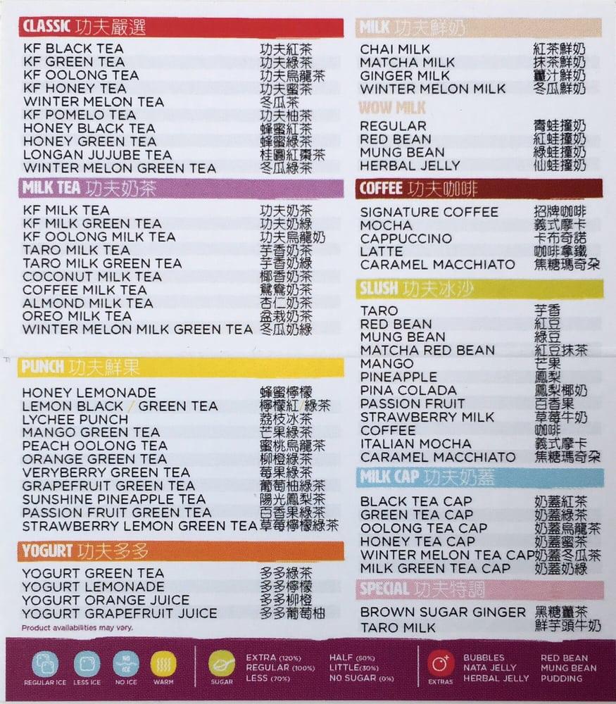 menu of tea goodness - yelp