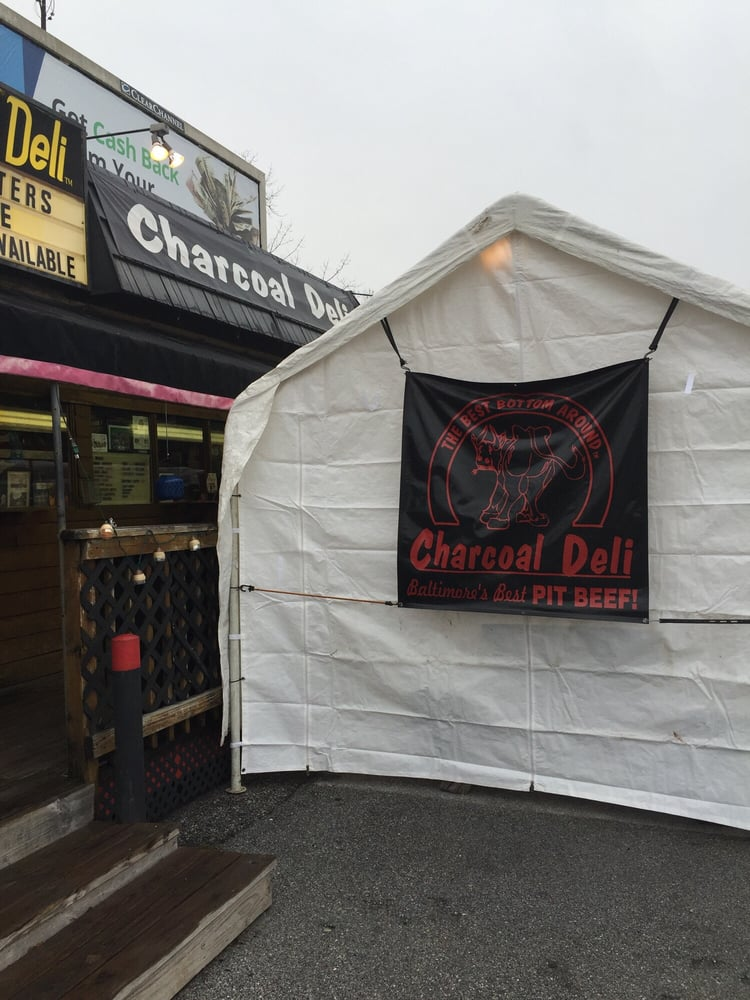 Photo of Charcoal Deli - Cockeysville MD United States. Did you know they & Did you know they have a heated tent for winter clientele? That ...