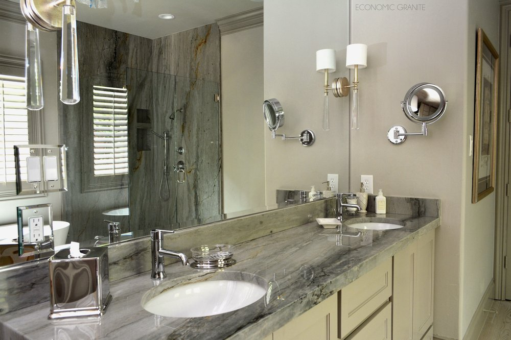 Photo Of Economic Granite   Plano, TX, United States. Matching Sea Pearl  Quartzite