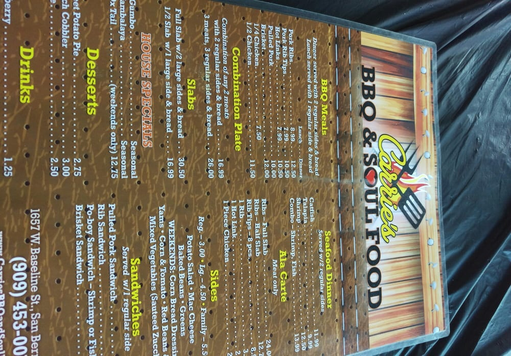Carries Bbq Soul Food San Bernardino Ca