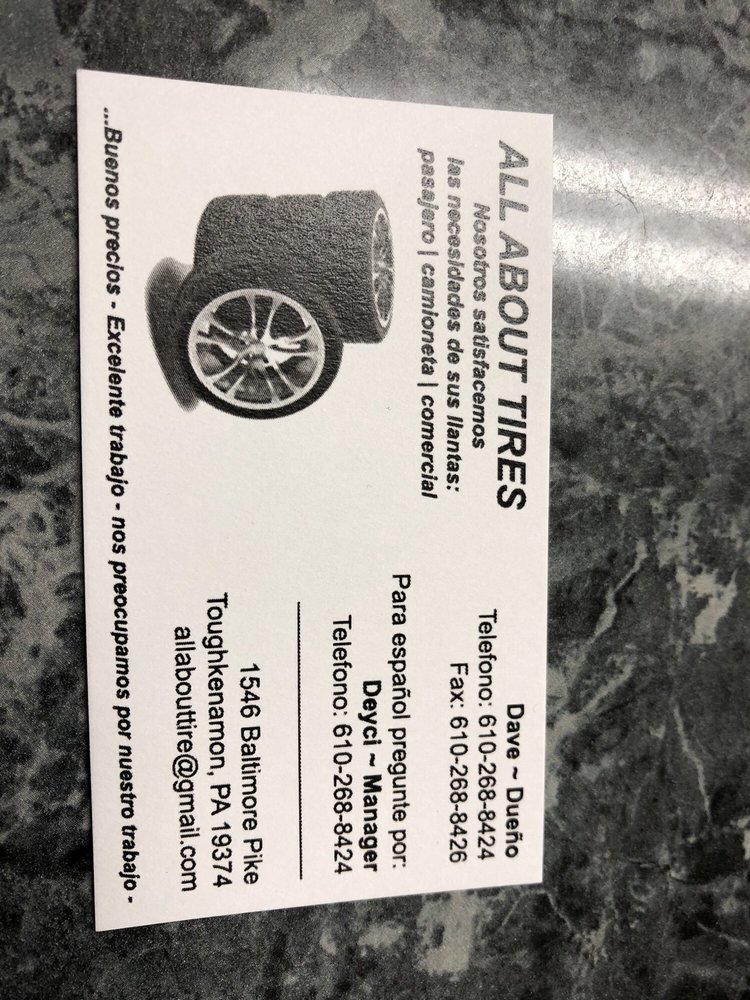All About Tires: 1546 Baltimore Pike, Toughkenamon, PA