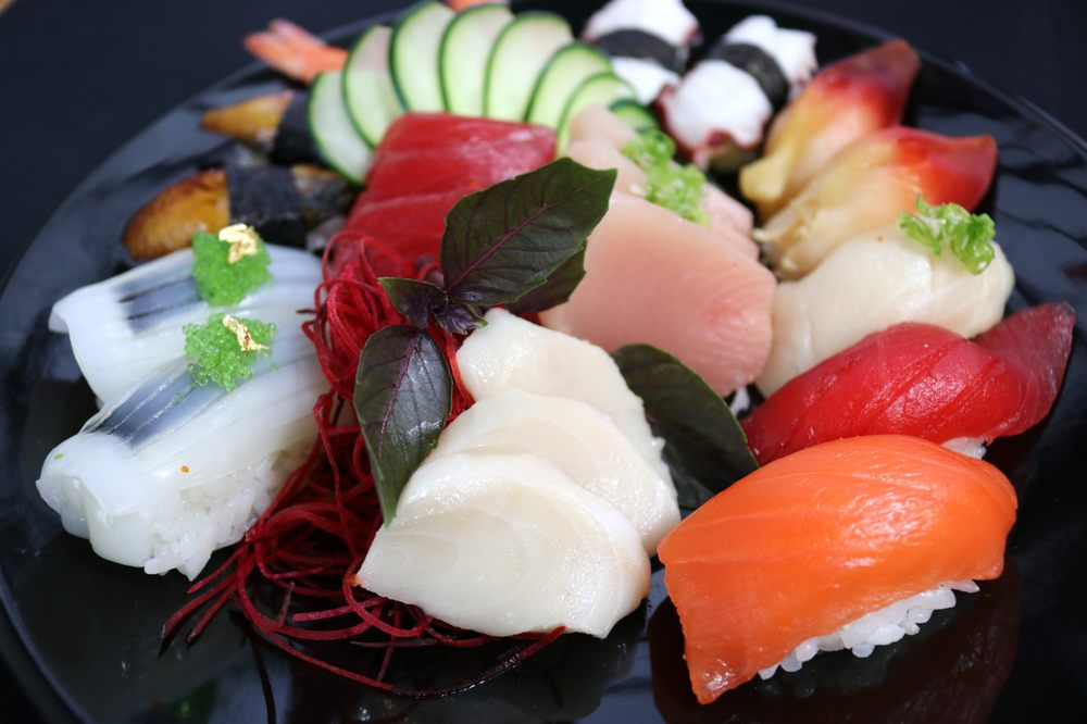Food from Tsunami Sushi & Hibachi