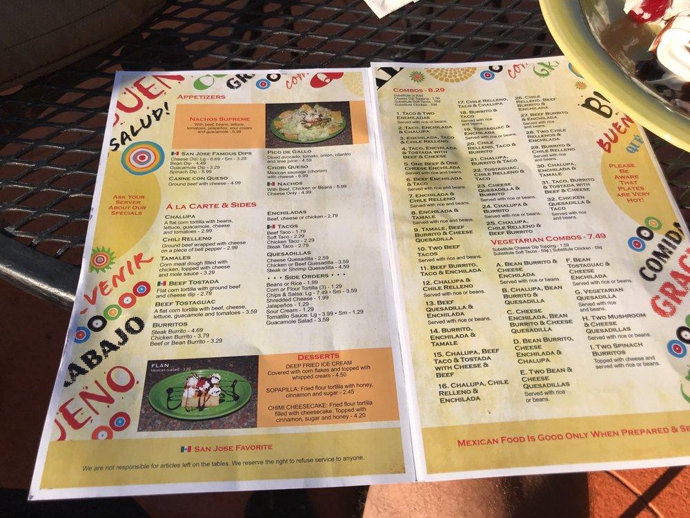 San Jose Restaurant: 410 E Columbia Ave, Batesburg-Leesville, SC