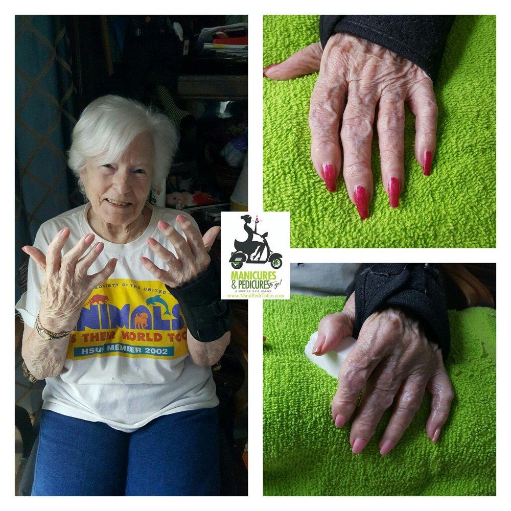 Mobile Nail Salon Los Angeles: Senior Manicure Manhattan Beach, CA