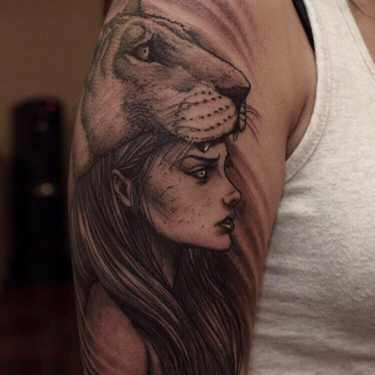 My Tattoo Girl In A Lioness Headdress Yelp