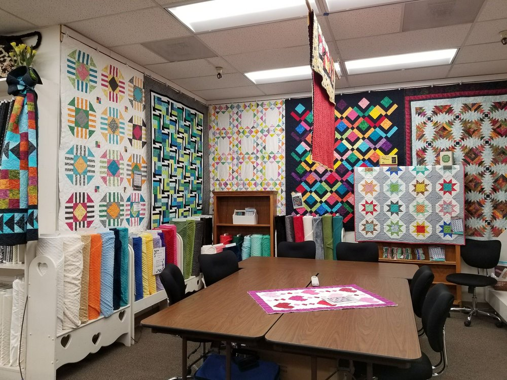 One Half Of The Classroom At The Granary Quilt Shop New Led