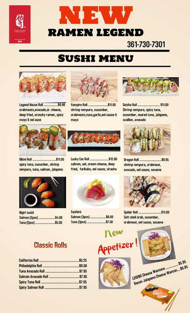 Food from Ramen Legend
