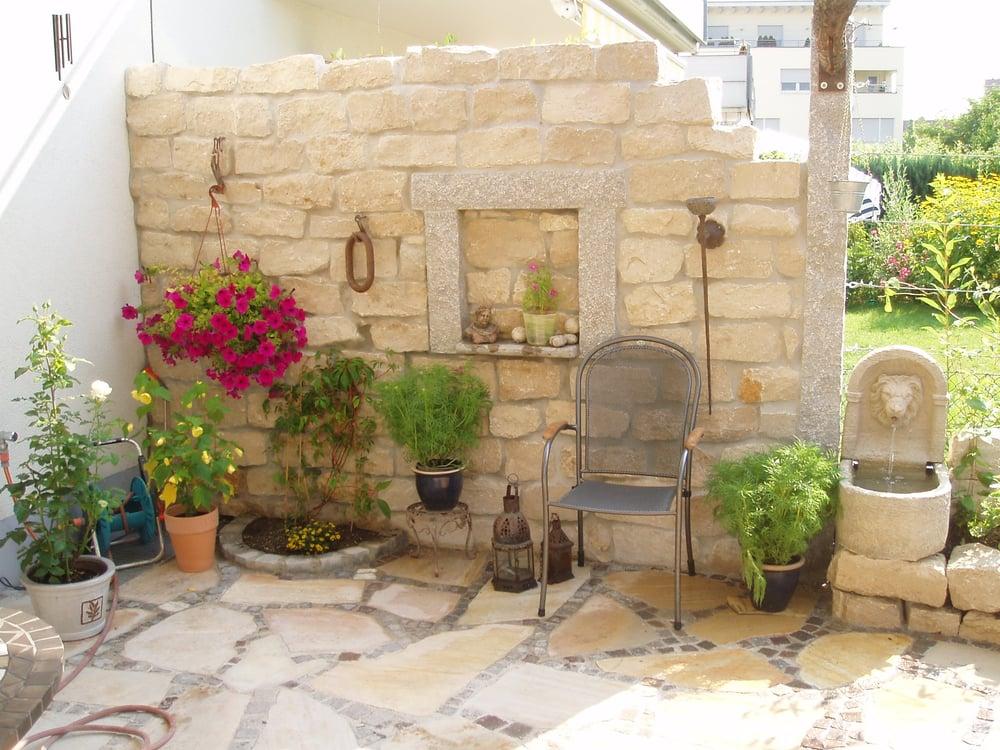 Sichtschutzmauer Mediterran Aus Naturstein Yelp