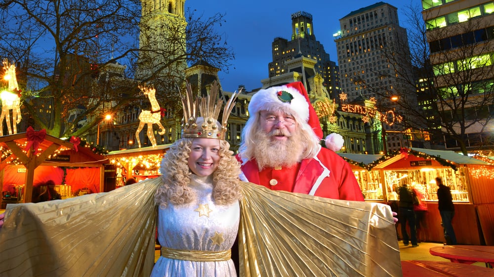 Photo Of Christmas Village In Philadelphia