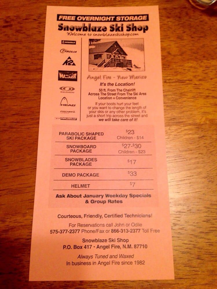 Snowblaze Ski Shop: 14 Five Springs Rd, Angel Fire, NM