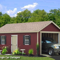 12x20 classic prefab car garage in wood buy this garage for Garage ava auto gap