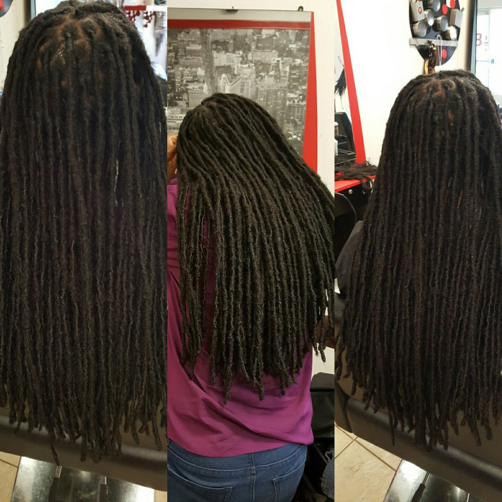 Instantloc Dread Extensions Started By Bee This Hair Length Is 3