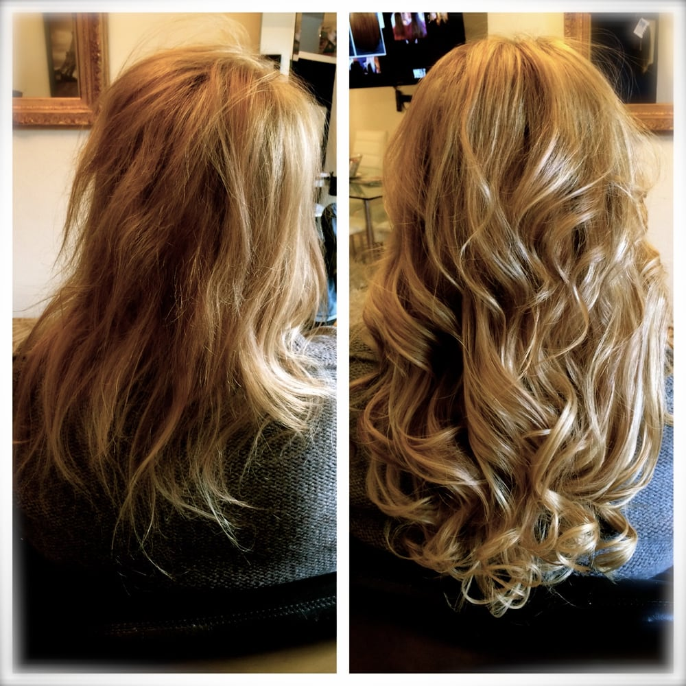 Before And After Soft Bond Hair Extensions 711 W Lake Street In