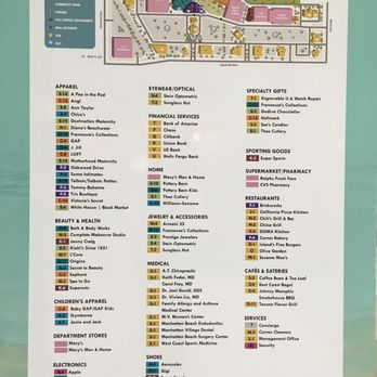 Del Amo Mall Map on