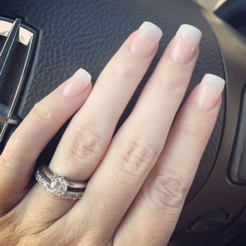 Photo Of Natural Nails Abilene Tx United States White Pink Ombré