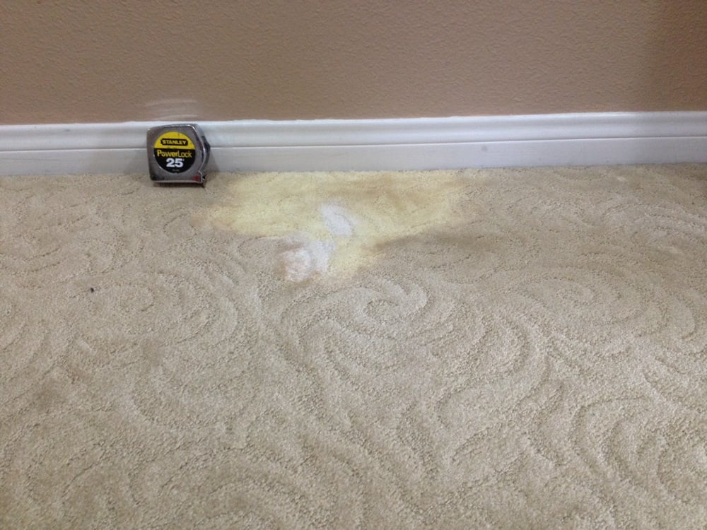Photo Of The Carpet Repairman Lakeside Ca United States Bleach Spill On